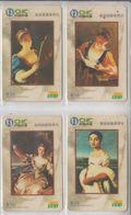 CHINA 2003 ART PAINTINGS SET OF 4 CARDS - Malerei