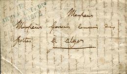 MILITARIA LETTRE 1835 E ARMEE EXPEDITION D'AFRIQUE D'ORAN POUR ALGER ALGERIE AFRIQUE DU NORD GUERRE - Marcophilie (Lettres)