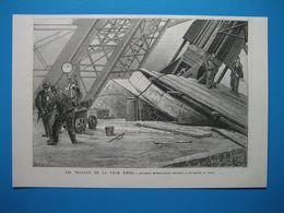 (1888) PARIS - Les Travaux De La TOUR EIFFEL -- Appareil Hydraulique Servant à Soulever La Tour - Documentos Antiguos