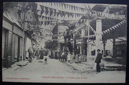 Grand Lemps Isère 1906, Belle Carte Animée Adressée Au Camp De La Valbonne (Ain), Avec Cachet D'arrivée Au Camp - Marcofilie (Brieven)