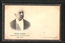 CPA Félix Faure, Président De La République, 1895-1899, Trauerrand - Politicians & Soldiers