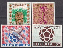 Soccer / Football / Fussball - WM 1970: Liberia  4 W **, Imperf. - Wereldkampioenschap