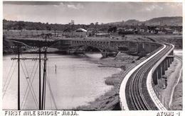 First Nile Bridge Jinhja Africa Real Photo Old PB RPC Postcard - Zonder Classificatie