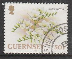 Guernsey 1992 Flowers 50 P Multicolored SW 560 O Used - Guernsey