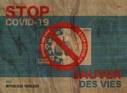 TOGO 2020 MNH Stop COVID-19 Save Lives Rettet Leben Sauver Des Vies S/S - OFFICIAL ISSUE - DHQ2022 - Malattie