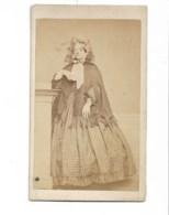 Photo Cdv Second Empire,  Femme En Robe, Phot. Rosse à St Malo - Photographs