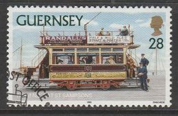 Guernsey 1992 Trams 28p Multicolored SW 570 O Used - Guernsey