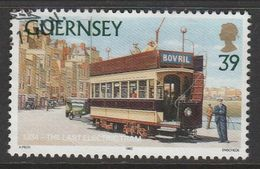 Guernsey 1992 Trams 39p Multicolored SW 572 O Used - Guernsey