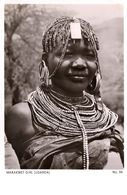 Marakwet Girl Uganda Woman Real Photo Antique Africa Postcard - Non Classés