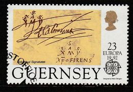 Guernsey 1992 EUROPA Stamps - The 500th Anniversary Of The Discovery Of America 23p Multicolored SW 545 O Used - Guernsey