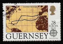 Guernsey 1992 EUROPA Stamps - The 500th Anniversary Of The Discovery Of America 28p Multicolored SW 546 O Used - Guernsey