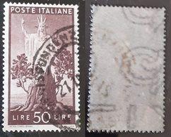 # Democratica 50 Lire Filigrana DB E Lettere Sotto 10/10 - 1946-60: Gebraucht