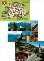 SUISSE / Lot 800 C.P.M. écrites - Postcards