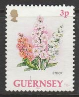 Guernsey 1992 Flowers 3p Multicolored SW 552 O Used - Guernsey