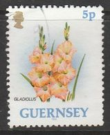 Guernsey 1992 Flowers 5p Multicolored SW 554 O Used - Guernsey