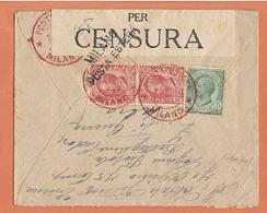 Lettre Milano 1918 Destination Zurick ( Suisse )  +  Censure - Zonder Classificatie