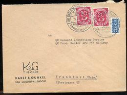 Bad Sooden-Allendorf K & G Tiische Karst & Gunkel > Headquarters QM Procurement APO 757 USA Army  (60) - Brieven En Documenten