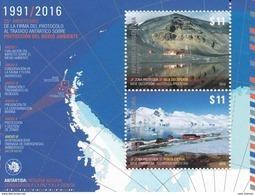 Argentina 2016 Environmental Protection Antarctica SS MNH - Tratado Antártico