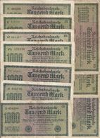 ALLEMAGNE 1000 MARK 1922 VF P 76 ( 10 Billets ) 6 Prefixes Diff - [ 3] 1918-1933 : Repubblica  Di Weimar