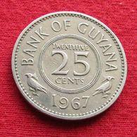 Guyana 25 Cents 1967 KM# 34 *V1 Guiana - Guyana
