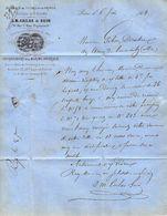 1868 PARIS INDUSTRIE J.M. CAILAR ET GUIN FONDERIE DE CUIVRE & BRONZE Pour Usines De Commentry Allier B.E. - France