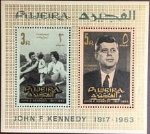 Fujeira 1965 Kennedy Minisheet MNH - Fujeira
