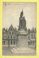 * Brugge - Bruges (West Vlaanderen) * (Nels, Série 12, Nr 34) Statue Breydel Et De Coninck, Grand'Place, Café, Markt - Brugge