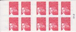 Marianne De Luquet, TVP Rouge Carnet De 10 TP N° 3419-C14 (La France à Vivre, Taureau, Tarte, ...), Neuf ** - Uso Corrente