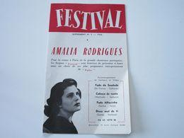 AMALIA RODRIGUES Sur Disques FESTIVAL  - Supplément N°2 - Saison 1956 - Les Derniers Disques Parus (dépliant 3 Volets) - Musik & Instrumente