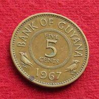 Guyana 5 Cents 1967 KM# 32 Guiana - Guyana