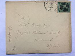 USA 1889 Cover Alexandria VA To Richmond VA - 1847-99 General Issues