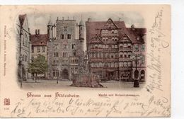 DC1726 - Gruss Aus Hildesheim Markt Litho - Hildesheim