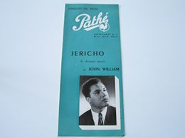 JOHN WILLIAM - Disques PATHE - Supplément N°7 Mai-Juin 1953 - Les Derniers Disques Parus (dépliant 4 Volets) - Musik & Instrumente