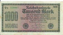 ALLEMAGNE 1000 MARK 1922 XF+ P 76 - [ 3] 1918-1933 : Repubblica  Di Weimar
