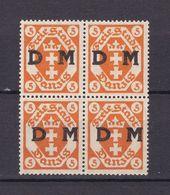 Danzig - Dienstmarken - 1921 - Michel Nr. 1 Viererblock - Postfrisch - Dantzig