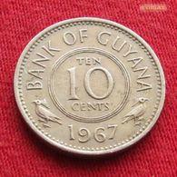 Guyana 10 Cents 1967 KM# 33 *V1 Guiana - Guyana