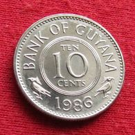 Guyana 10 Cents 1986 KM# 33 Guiana - Guyana