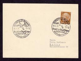 DR Postkarte GERSFELD - Gotha - 19.4.38 - Mi. 513 - Stadt Der Segelflieger Luftkurort Wintersportplatz - Deutschland
