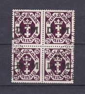 Danzig - Dienstmarken - 1922 - Michel Nr. 15 Viererblock - Gestempelt - 50 Euro - Dantzig