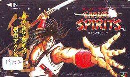 Télécarte Ancienne Japon 110-011 * MANGA * SAMURAI SPIRITS  (17.122) ANIME Japan  Phonecard * COMICS * - BD