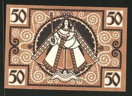 Notgeld Kevelaer 1921, 50 Pfennig, Stadtwappen, Heiligenbild - [11] Emisiones Locales