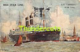 CPA S S ARABIC RED STAR LINE  ( PLI - CREASE ) - Steamers