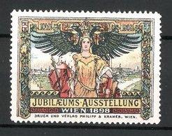 Reklamemarke Wien, Jubiläums-Ausstellung 1898, Kaiserin Und Reichsadler - Vignetten (Erinnophilie)