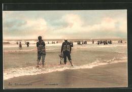 AK Blankenberghe, Les Sauveteurs, Rettungsschwimmer Am Strand - Bélgica