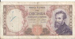 ITALIE 10000 LIRE 1970 VG+ P 97 E - 10000 Liras