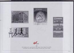 FEUILLET NOIR ET BLANC/ZWART WIT BLAADJE UIT GAVE 15/6/2020 - Blocks & Sheetlets 1962-....