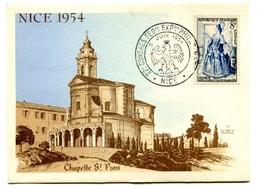 RC 17825 FRANCE 1954 CONGRÈS PHILATELIQUE NICE CARTE MAXIMUM 1er JOUR FDC TB - 1950-59