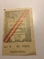 Ticket Entrée. Italie .      Comune Di VENEZIA - Eintrittskarten
