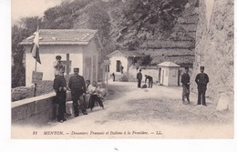 MENTON(DOUANE) FRONTIERE - Douane