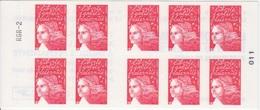 Marianne De Luquet, TVP Rouge Carnet De 10 TP N° 3419-C15 (Le Salon Du Timbre 2004), Neuf ** - Usage Courant